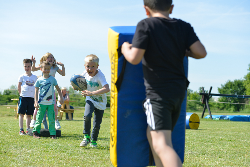 Kinderfeestje Tyler - 7 jaar uit Breda - voetbal, rugby en zeskamp