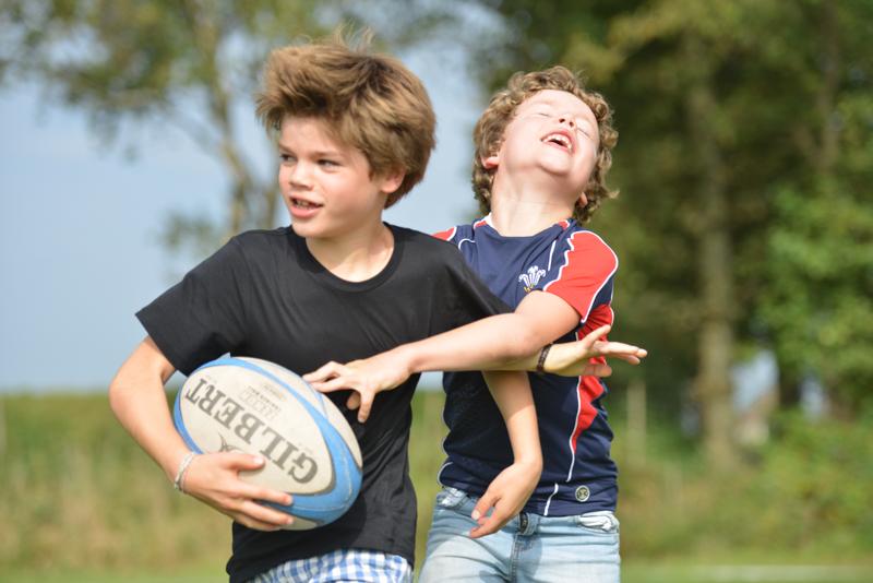 Kinderfeestje Guus - 8 jaar uit Breda - rugby