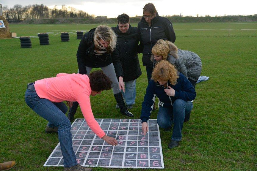 Activiteiten vriendengroep sudoku puzzel Polderevents