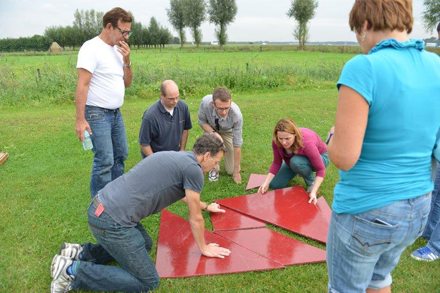 Activiteiten vriendengroep tangram puzzel Polderevents