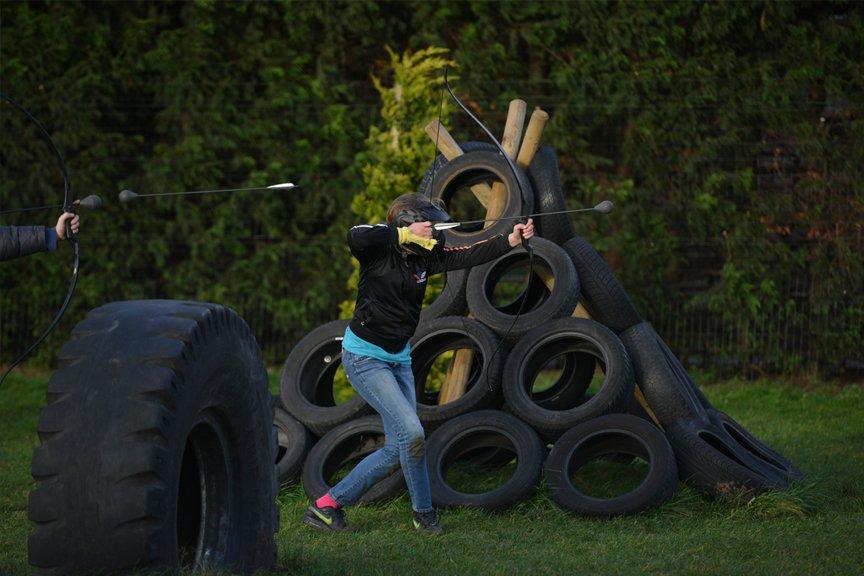 Schooluitje arrow attack Polderevents