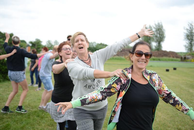 Enthousiast tijdens teamuitje bij Polderevents in omgeving Breda