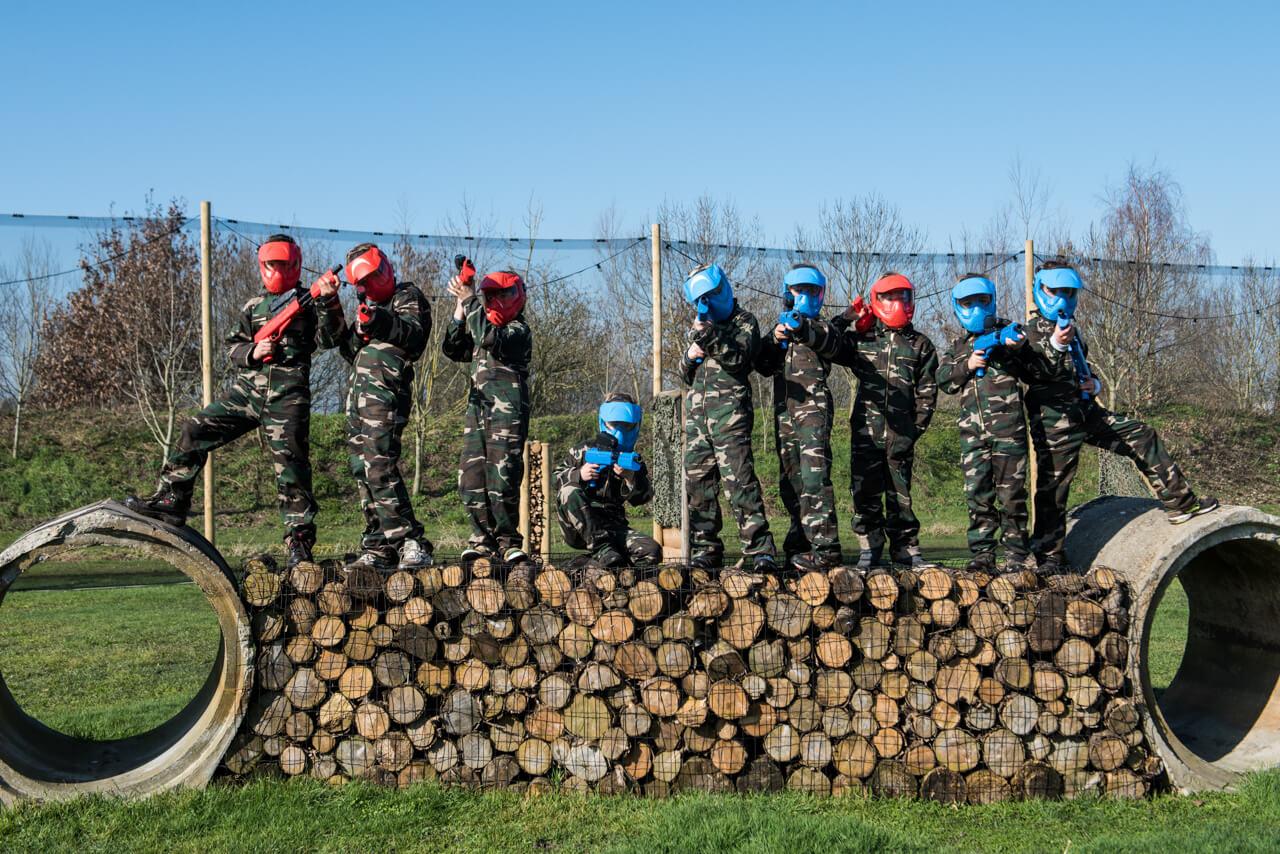 Outdoor paintball kinderfeestje organiseren voor jongen en meiden van 9 t:m 13 jaar op dé evenementenlocatie van omgeving Breda in Brabant?
